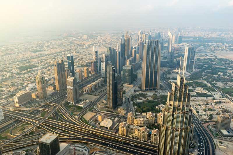 Бурдж Халифа фото города с высоты